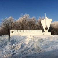 "Photo taken at Стела ""Хабаровск"" by Олеся on 12/31/2014"