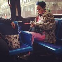 Photo taken at MTA Bus - E 14 St & 2 Av (M14A/M14D) by Melody H. on 3/28/2014