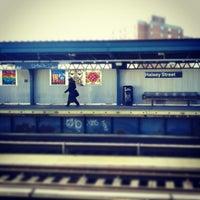 Photo taken at MTA Subway - Halsey St (J/Z) by Melody H. on 2/18/2013