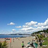 Photo taken at Alki Beach Park by Banafsheh Z. on 6/2/2013