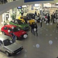 Photo taken at Volkswagen Центр Варшавка by Stanley K. on 4/5/2013