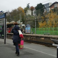 Photo taken at Gare SNCF de Suresnes — Mont Valérien by Emmanuel on 11/20/2014