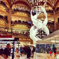 Photo taken at Galeries Lafayette Haussmann by Lesya on 2/27/2013