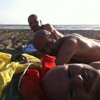 Photo taken at Spiaggia Campeggio Etruria by Stoeps M. on 8/14/2013