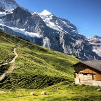 Photo taken at Kleine Scheidegg by Ceylan A. on 8/17/2013