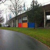 Photo taken at Stade olympique de la Pontaise by Aissat V. on 11/22/2012