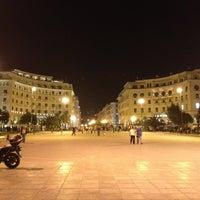 Photo taken at Aristotelous Square by Senol T. on 5/7/2013