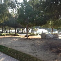 Photo taken at Al Mamzar Park by Elena S. on 1/20/2013