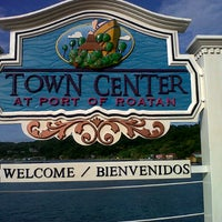 Photo taken at Town Center at Port of Roatan by walter S. on 12/16/2012
