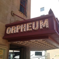 Photo taken at Orpheum Theater by Melissa B. on 3/16/2013