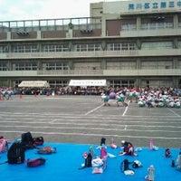 Photo taken at 荒川区立第三中学校 by Mitsumasa T. on 9/29/2012