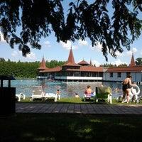 Photo taken at Hévízi-tó by Константин Л. on 6/23/2013