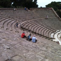 Photo taken at Teatro Ostia Antica by Luca M. on 8/9/2013