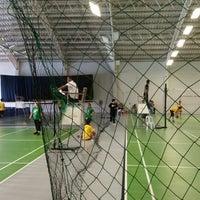 Photo taken at The Village Sports Club Badminton Court by Jcap on 7/25/2014