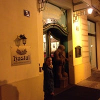 Photo taken at Hotel Haštal Prague Old Town by Alexey Z. on 3/16/2014