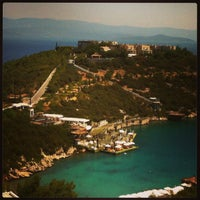 Photo taken at Hilton Bodrum Türkbükü Resort & Spa by Ebru E. on 7/18/2013
