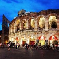 Photo taken at Arena di Verona by Mauricio A. on 8/8/2013