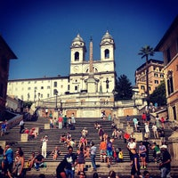Photo taken at Piazza di Spagna by Mike N. on 7/15/2013