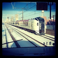 Photo taken at Shimosa-Nakayama Station by butakao on 1/14/2013