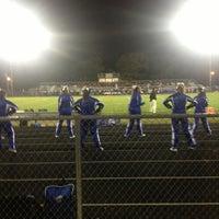 Photo taken at Flora High School Football Field by Rosie on 10/25/2014