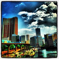 Photo taken at 渚橋 by grizzlygrizzly on 6/8/2013