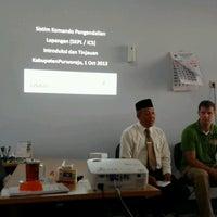 Photo taken at Badan Penanggulangan Bencana Daerah (BPBD) Kab. Purworejo by Gunarto P. on 10/1/2013