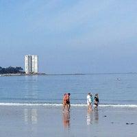 Photo taken at Praia de Samil by Alvaro V. on 5/26/2013