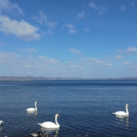 Photo taken at Lungolago Bracciano by Babak H. on 4/2/2018