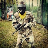 """Photo taken at Paintball park """"PIF PAF"""" by Ričards K. on 9/25/2012"""