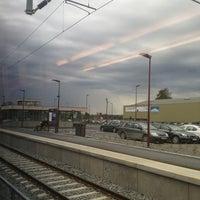 Photo taken at Moelv stasjon by Oddur A. on 5/17/2013