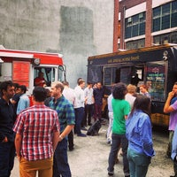 Photo taken at DUMBO Food Truck Lot by Wesley B. on 7/25/2013
