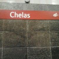 Photo taken at Metro Chelas [VM] by Claudia N. on 12/7/2012