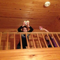 Photo taken at Bear Hug Cabin by Amanda T. on 3/24/2013