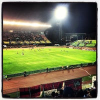 Photo taken at Estadio Olímpico Universitario by Manuel G. on 3/14/2013