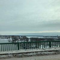 Photo taken at Sault Sainte Marie International Bridge by Nathan S. on 1/12/2017