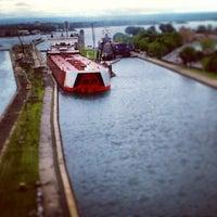 Photo taken at Sault Sainte Marie International Bridge by Nathan S. on 7/27/2013