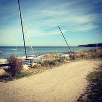 Photo taken at Ordrup Strand by Jakob W. on 9/7/2013