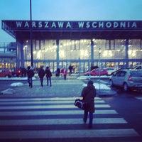 Photo taken at Warsaw East Railway Station by Anastasia L. on 3/11/2013