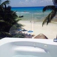 Photo taken at Hotel Colibrí Beach by Vicky J. on 7/20/2014
