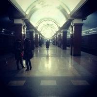 Photo taken at Станция метро «Проспект Победы» by Кирилл М. on 10/28/2012