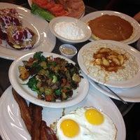 Photo taken at Juicy-O Pancake House by Jim on 2/10/2013