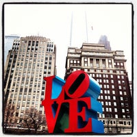 Photo taken at JFK Plaza / Love Park by Paige on 12/2/2012