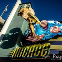 Photo taken at Marvel Superhero Island Arcade by Paige on 6/30/2015