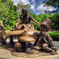 Photo taken at Alice in Wonderland Statue by Paige on 5/26/2013