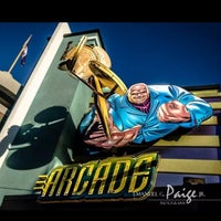 Photo taken at Marvel Superhero Island Arcade by Paige on 3/11/2014