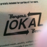 Photo taken at Lokal Burgers & Beer by Geoffrey A. on 11/9/2012
