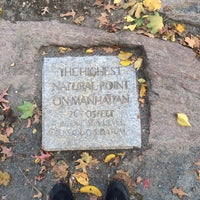 Photo taken at Highest Natural Point In Manhattan by Ciprian T. on 11/2/2013