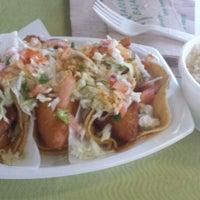 Photo taken at Tacos Baja Ensenada by Kaylee K. on 7/25/2013