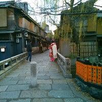 Photo taken at 祇園新橋 by Kazuyoshi F. on 1/2/2014