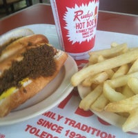 Photo taken at Rudy's Hot Dog by Brenda B. on 3/13/2013